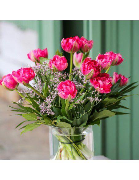 Ramo de Tulipanes magenta