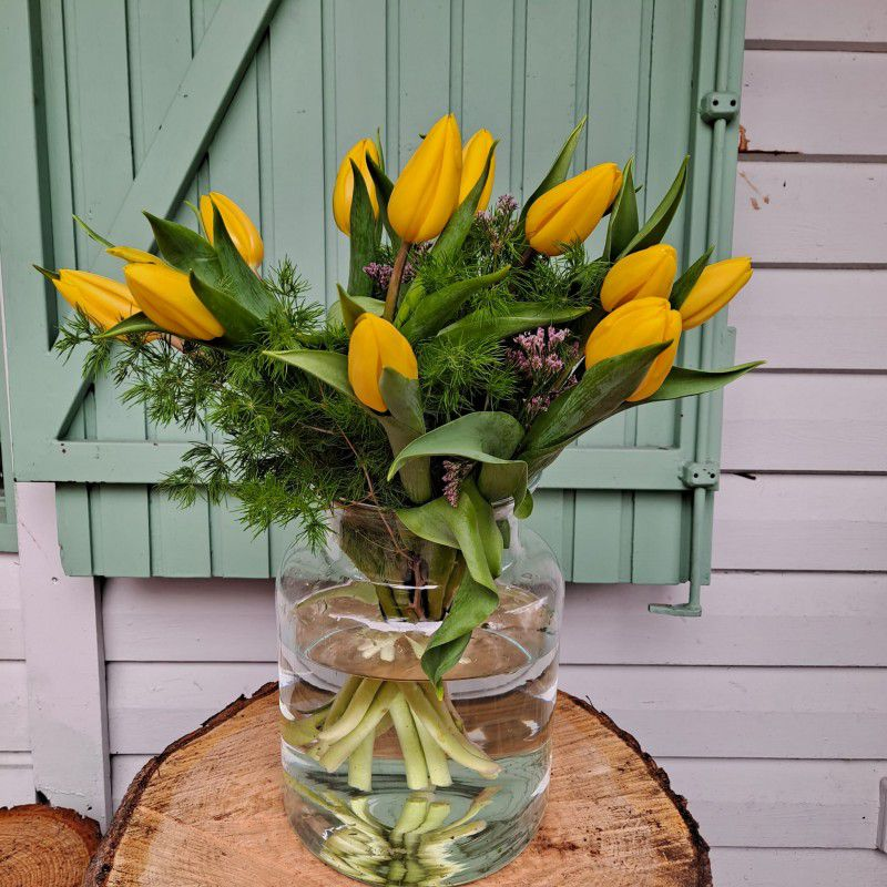 Ramo tulipanes amarillos