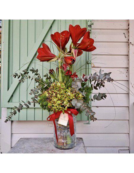 Amarilys y hortensias