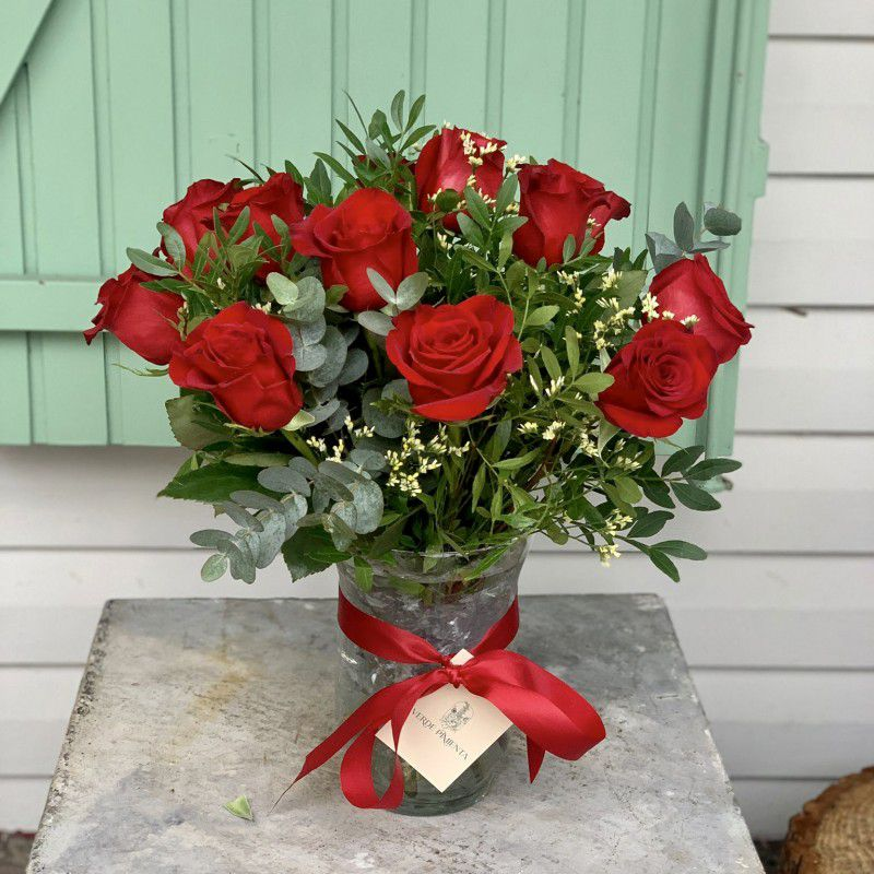 Centro Love 12 rosas