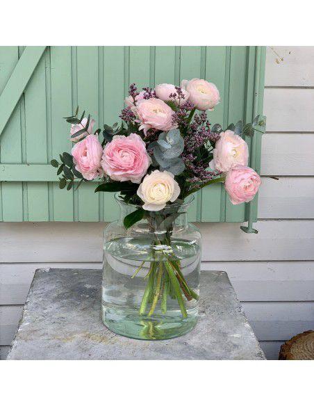 Ramo de ranúnculos rosas
